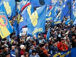 """В Тернополе посадили на кол """"Януковича"""""""