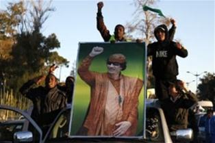 Войска Каддафи восстановили контроль над частью Ливии