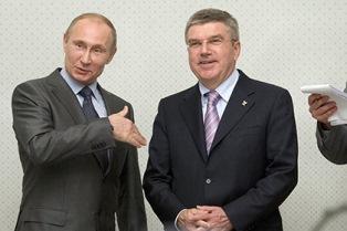 Bild: глава МОК Томас Бах - пудель Путина