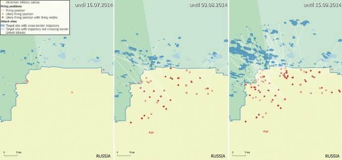 Bellingcat: в 2014 РФ не менее 150 раз обстреливала территорию Украины