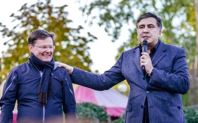 Саша Боровик и Михаил Саакашвили