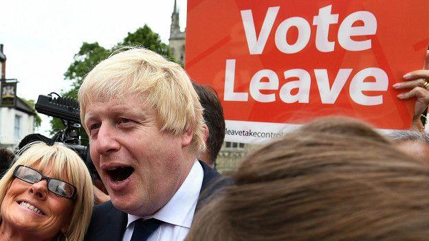 Бывший мэр Лондона Борис Джонсон - один из активных сторонников Brexit
