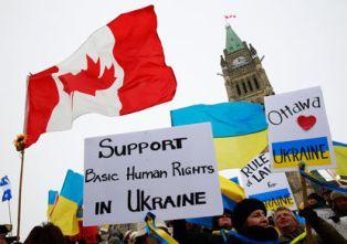 Митинг в поддержку Украины в Канаде