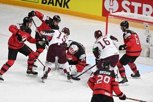 ЧМ по хоккею: Латвия сенсационно обыграла Канаду, Германия разгромила Итали ...