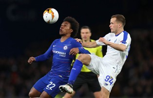 Лига Европы: Челси громит Динамо, Наполи разобрался с Зальцбургом