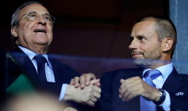 Президент UEFA предложил исключить на 2 года из еврокубков Барселону, Реал и Ювентус