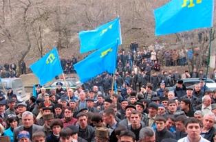 Митинг крымских татар в Симферополе