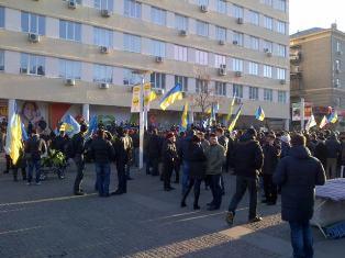 Евромайдан в Днепропетровске собрал более 3 тыс. человек