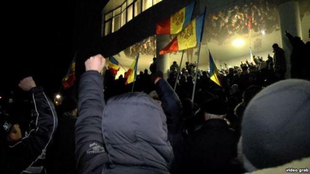 Массовые протесты в Кишиневе