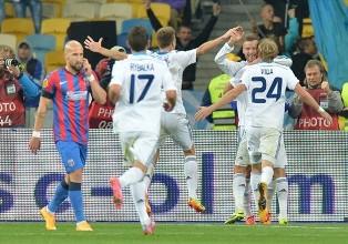 Лига Европы-2014/2015: Динамо побеждает Стяуа, ничья Днепра во Франции, вто ...