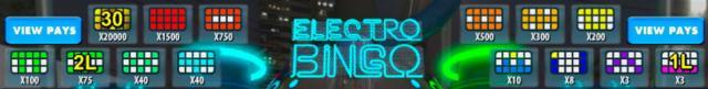 Electro Bingo: классическая лотерея в стиле 80-х от клуба Вулкан