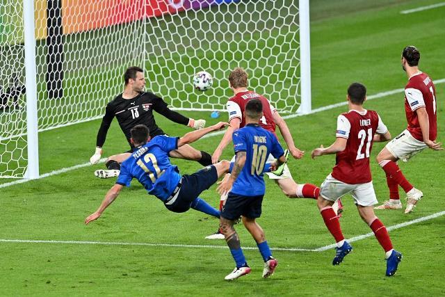 Евро-2020: Италия обыграла Австрию в овертайме, Дания разгромила Уэльс