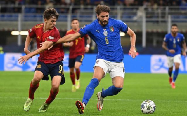 Лига Наций: Италия в меньшинстве уступила Испании в полуфинале