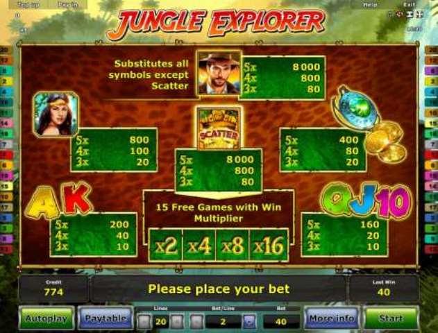 Jungle Explorer игровые автоматы