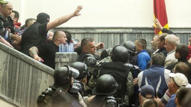 Захват парламента в Македонии