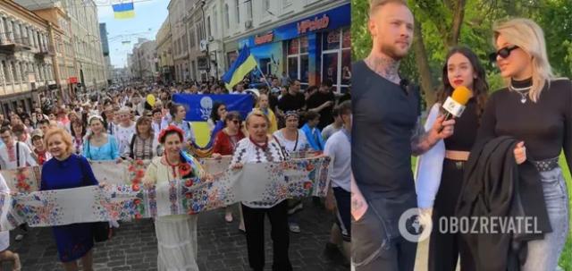 Жительницу Харькова уволили с работы за то, что назвала марш вышиванок «парадом быдла»