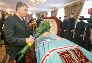 Порошенко на похоронах митрополита Владимира