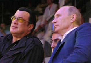Владимир Путин и Стивен Сигал