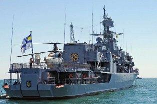 Флагман Сагайдачный провел разведывательную операцию в Крыму под носом у ро ...
