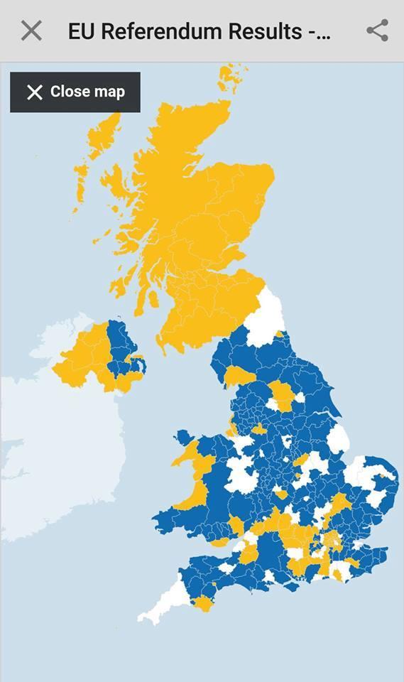 В Шотландии резко отреагировали на результаты Brexit