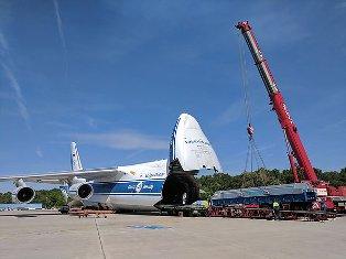 Уникальный грузовой самолет доставил в Кувейт гигантский ротор для генерато ...