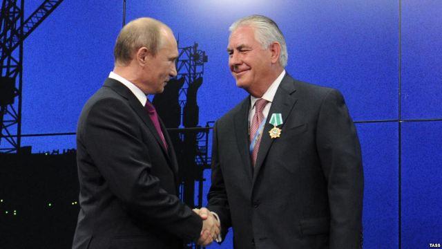 Тиллерсон и Путин