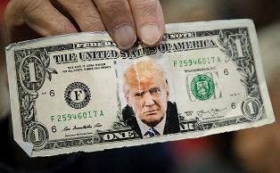 Доллар подешевел в ожидании выступления Трампа в Конгрессе