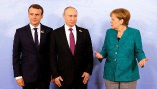 Туск, Путин, Меркель