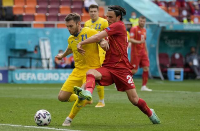 Евро-2020: Украина в непростом матче обыграла Северную Македонию