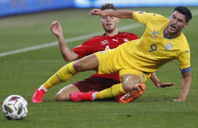 Лига Наций: Украина побеждает Швейцарию, Испания спасает ничью с Германией