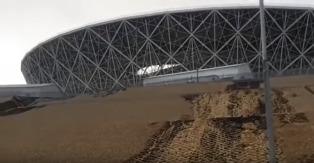 В Волгограде построенный к ЧМ-2018 стадион размыло дождем